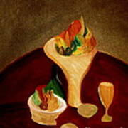 Still Life On A Red Table Art Print