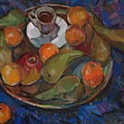 Still Life On A Tray Art Print by Juliya Zhukova