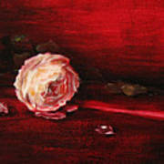 Still Life - Original Painting. Part Of A Diptych.  Art Print by Tanya Byrd