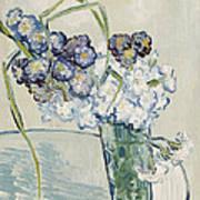 Still Life Vase Of Carnations Print by Vincent van Gogh