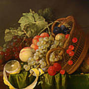 Still Life With A Basket Of Fruit Art Print
