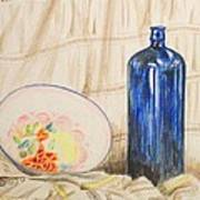 Still-life With Blue Bottle Art Print