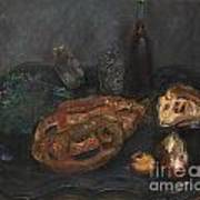 Still Life With Bread And Onions Art Print