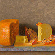 Still Life With Cheese Art Print
