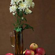Still Life With Chrysanthemums Art Print