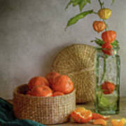 Still Life With Clementines Art Print