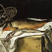 Still Life With Fish Art Print by Frederic Bazille