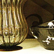 Still Life With Golden Vase Art Print