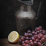 Still Life With Grapes Art Print