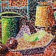 Still Life With Green Jug Painting Art Print