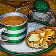 Still Life With Green Touring Bike Art Print by Mark Jones