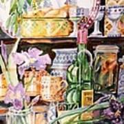 Still Life With Irises Art Print