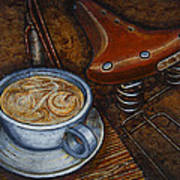 Still Life With Ladies Bike Art Print by Mark Jones