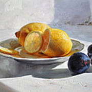 Still Life With Lemons Art Print
