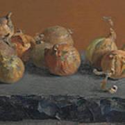 Still Life With Onions  Art Print