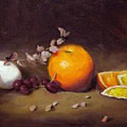 Still Life With Orange And Egg Art Print