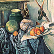 Still Life With Pitcher And Aubergines Oil On Canvas Art Print
