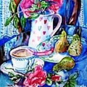 Still Life With Roses  Art Print