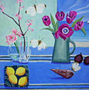 Still Life With Sea View Sold Art Print