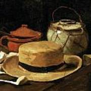 Still Life With Straw Hat Art Print