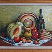 Still Life With Water Melon Art Print