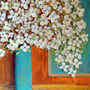 Still Life With White Flowers Art Print