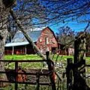 Still Useful Rustic Red Barn Art Oconee County Art Print