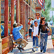 Stillwater Shoppers Art Print