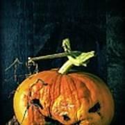 Stingy Jack - Scary Halloween Pumpkin Art Print by Edward Fielding