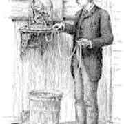 Stock Ticker, 1885 Art Print