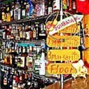 Stocked Bar At Jax Art Print