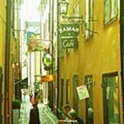 Stockholm City Cafe Art Print
