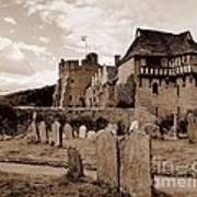 Stokesay Castle Sepia Art Print