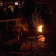 Stoking The Sauna Art Print