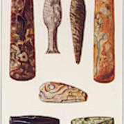 Stone Age Artifacts From Norway - Tools Art Print