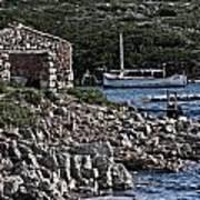 Roman Port Of Sa Nitja In Minorca - Stone And Sea Art Print