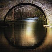Stone Arch Bridge - Brick Texture Art Print