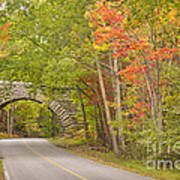 Stone Arch Bridge In Acadia National Park Art Print