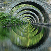 Stone Arch Bridge Over Troubled Waters - 1st Place Winner Faa Optical Illusions 2-26-2012 Art Print