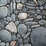 Stone Beach Keepsake Rocky Beach Shells And Stones Art Print