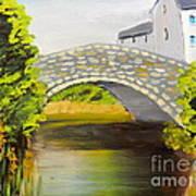 Stone Bridge At Burrowford Uk Art Print