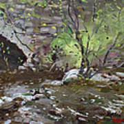 Stone Bridge At Three Sisters Islands Art Print