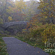 Stone Bridge In Autumn 3 Art Print