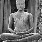 Stone Buddha Art Print by Adam Romanowicz