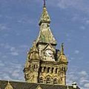 Stone Clock Tower Art Print