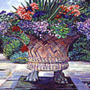 Stone Garden Ornament Art Print by David Lloyd Glover