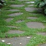 Stone Garden Walkway Art Print
