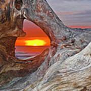 Stone Lagoon Sunset Art Print