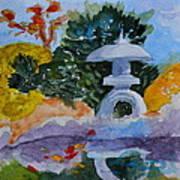 Stone Lantern Art Print