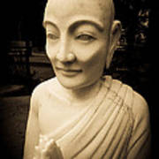 Stone Monk Art Print